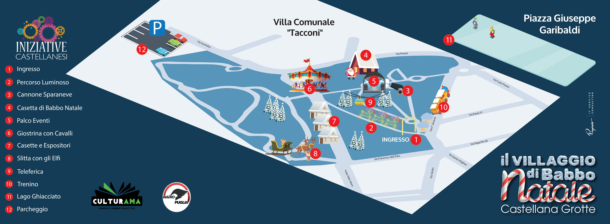 Percorso Babbo Natale.La Mappa Il Villaggio Di Babbo Natale