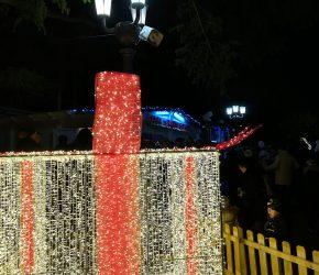 Casa di Babbo Natale pacco natalizio